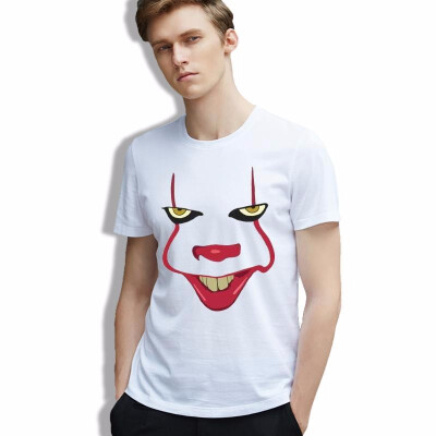 T-shirt Horror Pop Movie Pennywise Joker Art Hipster Tees Cool Parody Chic Cotton Fashion T Shirt