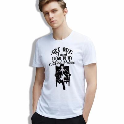 T Shirt Men Vintage Pop Movie Figure Sherlock Short Sleeve Tees Fashion Cozy Cotton Tshirt