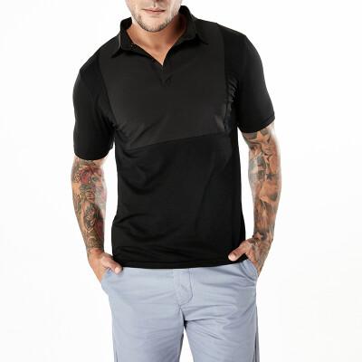 Mens Casual Short Sleeve Polo T Shirt Tops