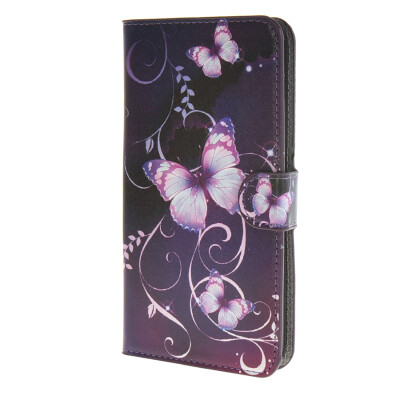 MOONCASE Butterfly style Leather Side Flip Wallet Card Slot Stand Pouch Case Cover for Microsoft Lumia 640  / a08