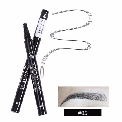 HANDAIYAN Super Natural Four-Tooth Eyebrow Tattoo Pen Long-lasting Waterproof Sweatproof Fine Micro Carving Liquid Eyebrow Pencil