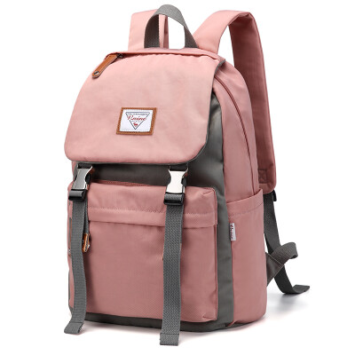Ninth City VNINE backpack ladies large capacity 13314 inch computer bag multi-function travel backpack big middle school students couple bag male VD8BV32989J beige with gray