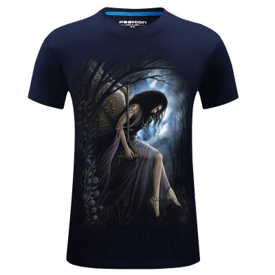 Hot Sale Mens Fashion 3d T Shirt Homme Skull Printed O-neck Short Sleeve Cotton tshirt Street Wear Hip Hop Tees Plus Size -6xl
