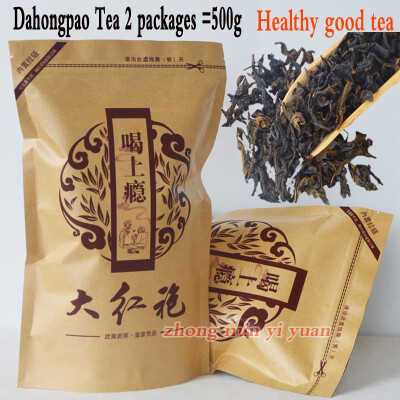 500G Top Grade 2019 clovershrub Da Hong Pao Red Robe dahongpao Oolong Tea Lose weight the tea black antifatigue free shipping