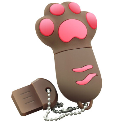 Right Transshow cartoon series colorful cat claw 16GB creative gift U disk brown
