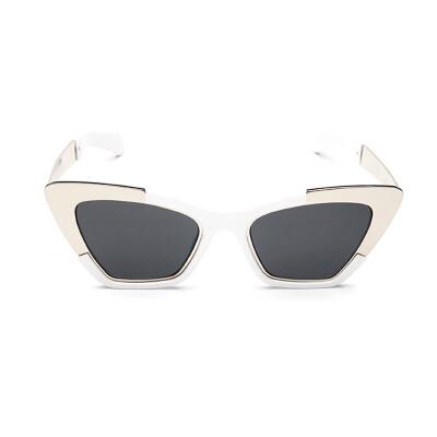 FEIDU 2016 New Metal Frame Dita Sexy Cat Eye Sunglasses for Women Coating Brand Vintage Sun Glasses oculos de grau femininos