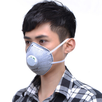 Green heart green breath N95 suction cup type masks anti-particulate respirator with exhalation valve gray 20 box