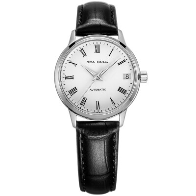 Seagull (SeaGull) watch simple business series single automatic mechanical couple table female table white plate black belt D819.636L