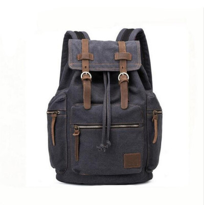 Canvas bag retro casual mens bag mens backpack computer anti-theft backpack student casual bag