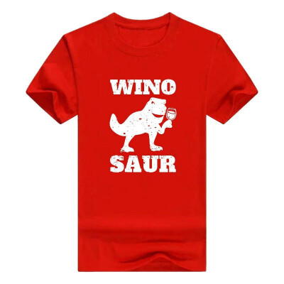 Wino Saur Wine O-Neck T Shirt Tops Black Cool Vintage Winosaur Mens T-Shirt