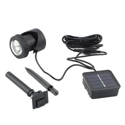 6 LED Solar Garden Spot Light Outdoor Lawn Landscape Spotlight Waterproof IP68