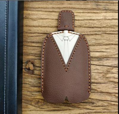 Car key bag universal creative car key set small prince leather hand sewing personality car key shell