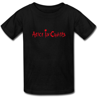 Custom Mens Alice In Chains T-shirt cotton short sleeve shirts for men