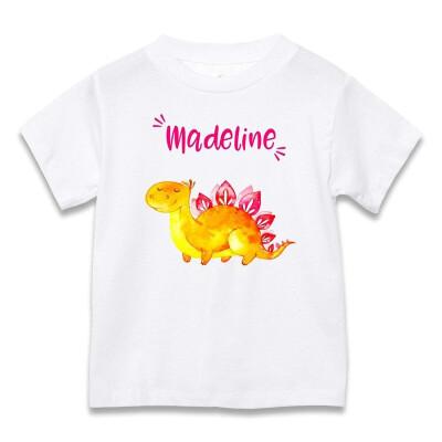 Custom Dinosaur Toddler Shirt Short Sleeve T Shirts for Boys&Girls