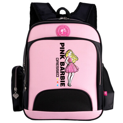 Barbie Primary School Student Bag Schoolbag Girl Princess Princess Ridge Reduced Shoulder Backpack New Year High School Bag ZZ161160-C Pink
