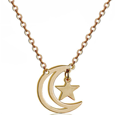 YISHIZHIAI Star Moon Pendant New Necklace Clavicle Necklace Fashion Womens Accessories 4496