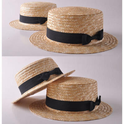Fashion Women Daughter Summer Boho Straw Sun Hat Bow Flat Wide Brim Beach Cap