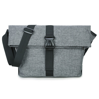 Qingqi Men Men Shoulder Bag Korean casual men bag business Messenger bag trend cross package backpack 7097 Messenger Gray