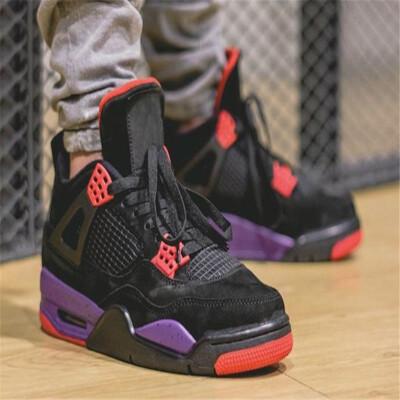 79d62f22a6ba3d 4 NRG Raptors basketball shoes Travis Scott x 4s HOUSTON Cactus Jack Pure  Money Royalty Black