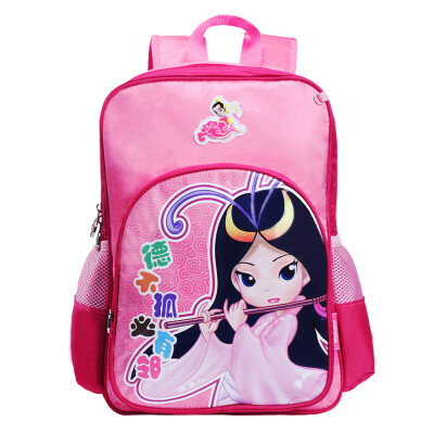 Confucius schoolbag 1 - 3 grade primary school student bag R201A rose red children bag