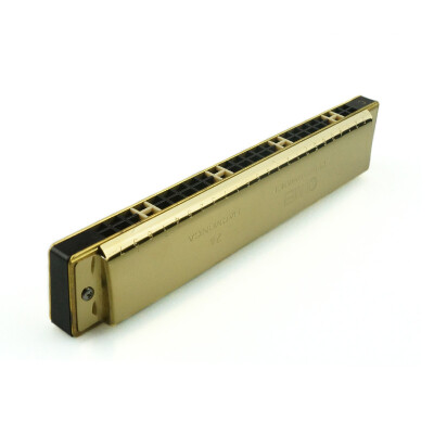 Chi Mei QM24A-8 24 hole special tone gold C harmonica