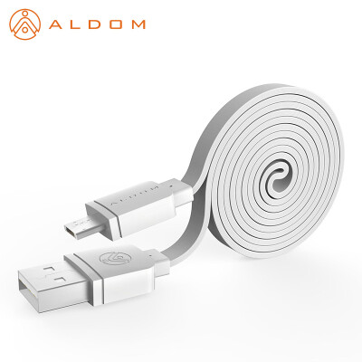 Aldom Flat Micro USB Cable 2A For Samsung galaxy LG HTC Android Mobile Phone Charger Data Sync Cable 1M For Lightning iPhone 5 6