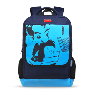 Confucius schoolbag 2 grade - junior high school students primary school students to increase the cover K504 blue children bag
