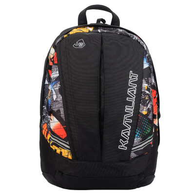 New Beauty] Kamili Long (Kamiliant) personality cool large-capacity computer backpack male student bag 42Q * 39001 red hidden grid printing