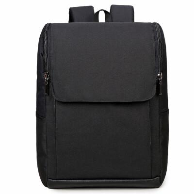 Light rider shoulder bag male Korean fashion trend student bag male business computer bag leisure travel backpack 236 black