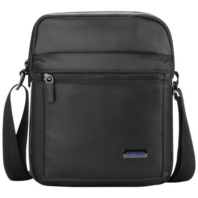 American Tourister Vicinity  Series Business Men's Lightweight Nylon Vertical Diagonal Bag BF6 * 09002 Black