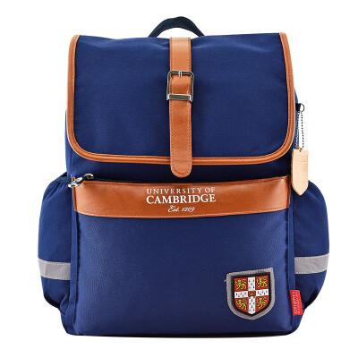 Cambridge University UNIVERSITY OF CAMBRIDGE Children&39s school bag Primary school student casual schoolbag Male girl Large capacity loss shoulder bag CA085 Blue