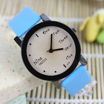 New quartz watch English fashion generous Europe and the United States simple male and female students couple watches YZL0532TH-4