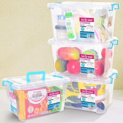 Jingdong Supermarket] Baicao Park plastic portable storage box fresh box debris storage box finishing box 10L 4 loaded