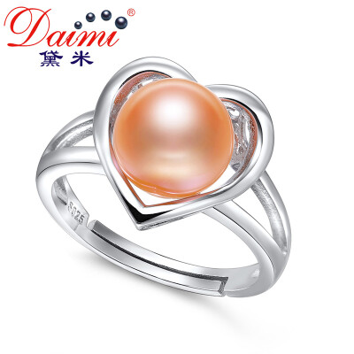 Demi Jewelery Aphrodish Full Bead Light Pink Freshwater Pearl Ring S925 Silver 8-9mm