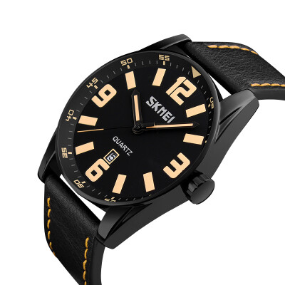 Moment beauty skmei watch men&39s sports leisure fashion three-dimensional scale quartz watch 9137 brown