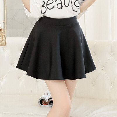 Nanjiren Skirt Elegant Pleated Slim Skirt black M 15564