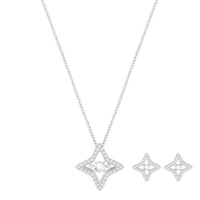 SWAROVSKI SWAROVSKI Sparkling White Necklaces Earrings Set 5349667