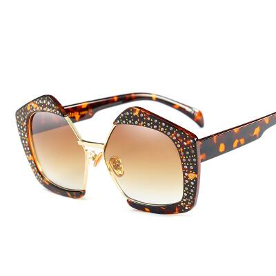 Peekaboo rhinestone polygon sunglasses women oversized black half rimless luxury sun glasses female transparent blue uv400 lens ey