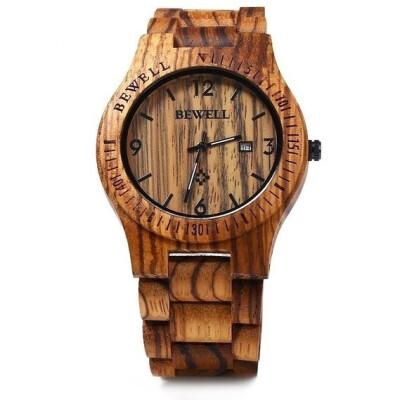 Luxury Natural Handmade Wood Watch Top Gift Auto Date Coffee Maple Wooden Watches Japnese Quartz Movement Wrist Watch