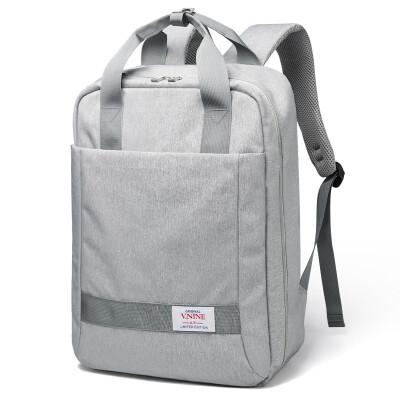 Ninth City VNINE Backpack Mens Computer Bag 1314156 Inch Business Casual Large Capacity Backpack Waterproof Bag VD7BV33913J Gray