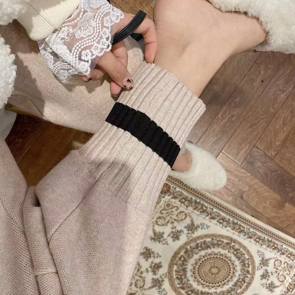 88760-【送运费险】烟管裤九分铅笔裤羊绒女奶奶秋冬打底外穿显瘦束脚裤 UGG黑色 均码(80-145斤均可)-详情图