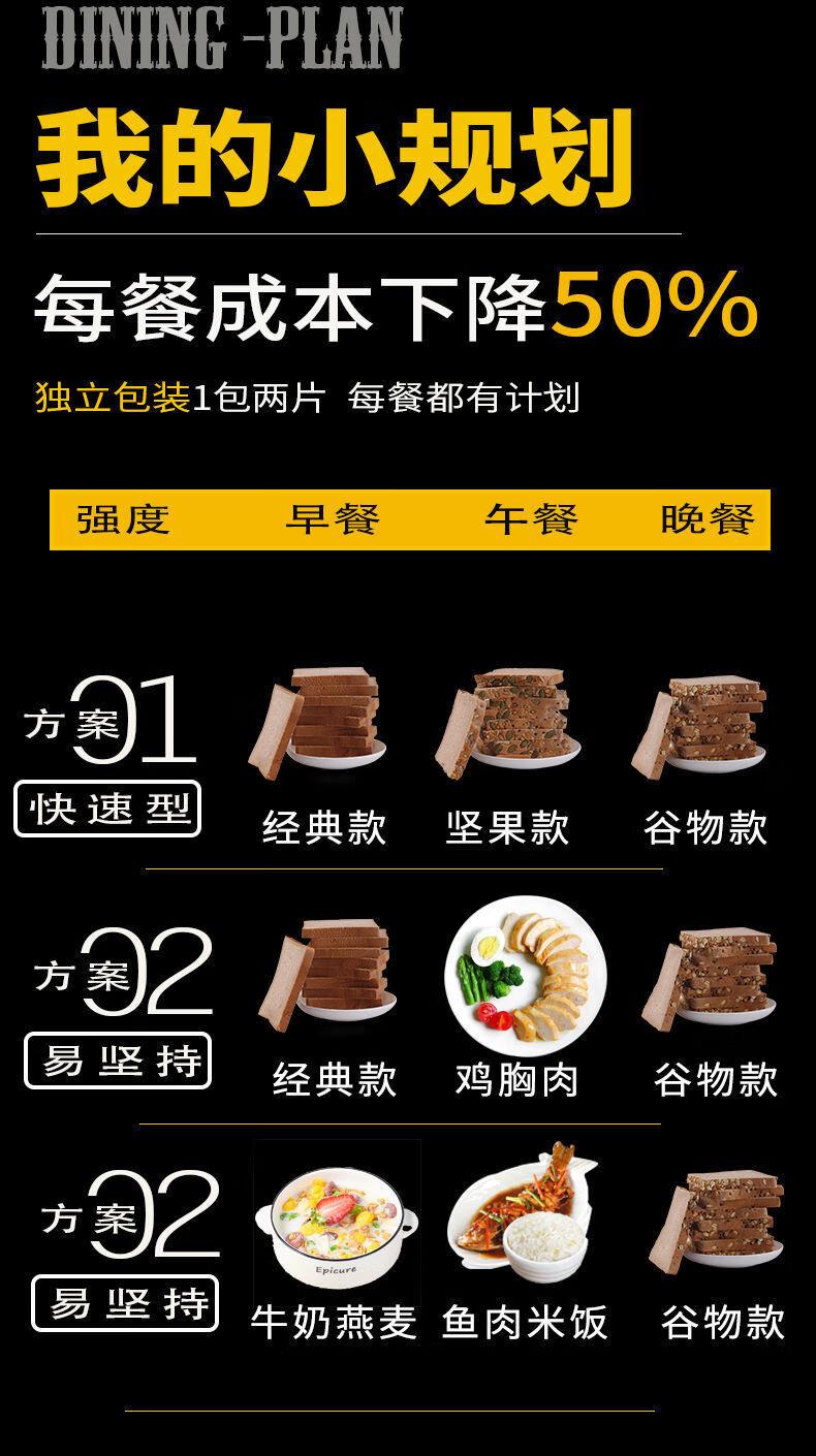 38125-黑麦面包粗粮早餐吐司杂粮面包5袋-5斤 全mai面包 【1箱20片】约(500g)-详情图