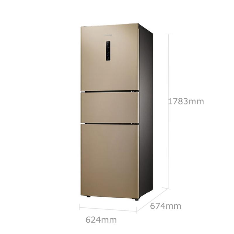 三星(SAMSUNG)280升风冷无霜智能变频三门小冰箱-银...-京东