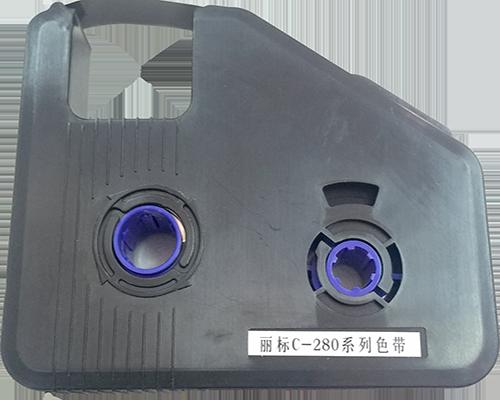 丽标(capelabel)C-280线号机色带,官方直营,打印套管贴纸热缩管4mm标志条 黑色-京东
