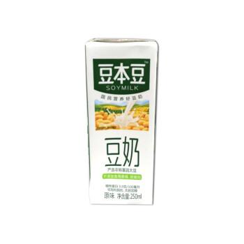 豆本豆原味豆奶盒装250ml/瓶