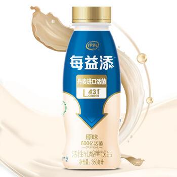 伊利每益添原味活性乳酸菌饮料350ml/瓶