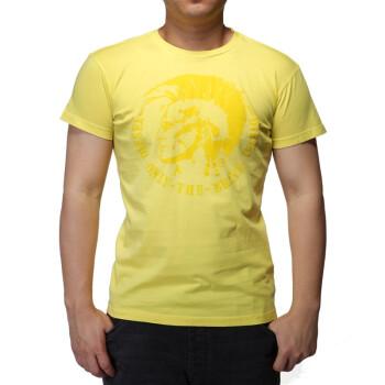 DIESEL NANA 20N 男士圆领短袖 黄色 S号