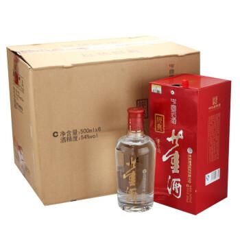 董酒 红色经典 董香型白酒 54度 500ml*6瓶