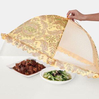 FOOJO圓形可折疊飯菜罩子剩飯剩菜防蚊蟲防塵罩件家用蓋菜餐桌罩