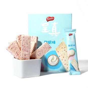 雀巢(Nestle)呈真 酸奶味 仙气威化 饼干 脆脆鲨升级版 休闲零食 独立包装272g